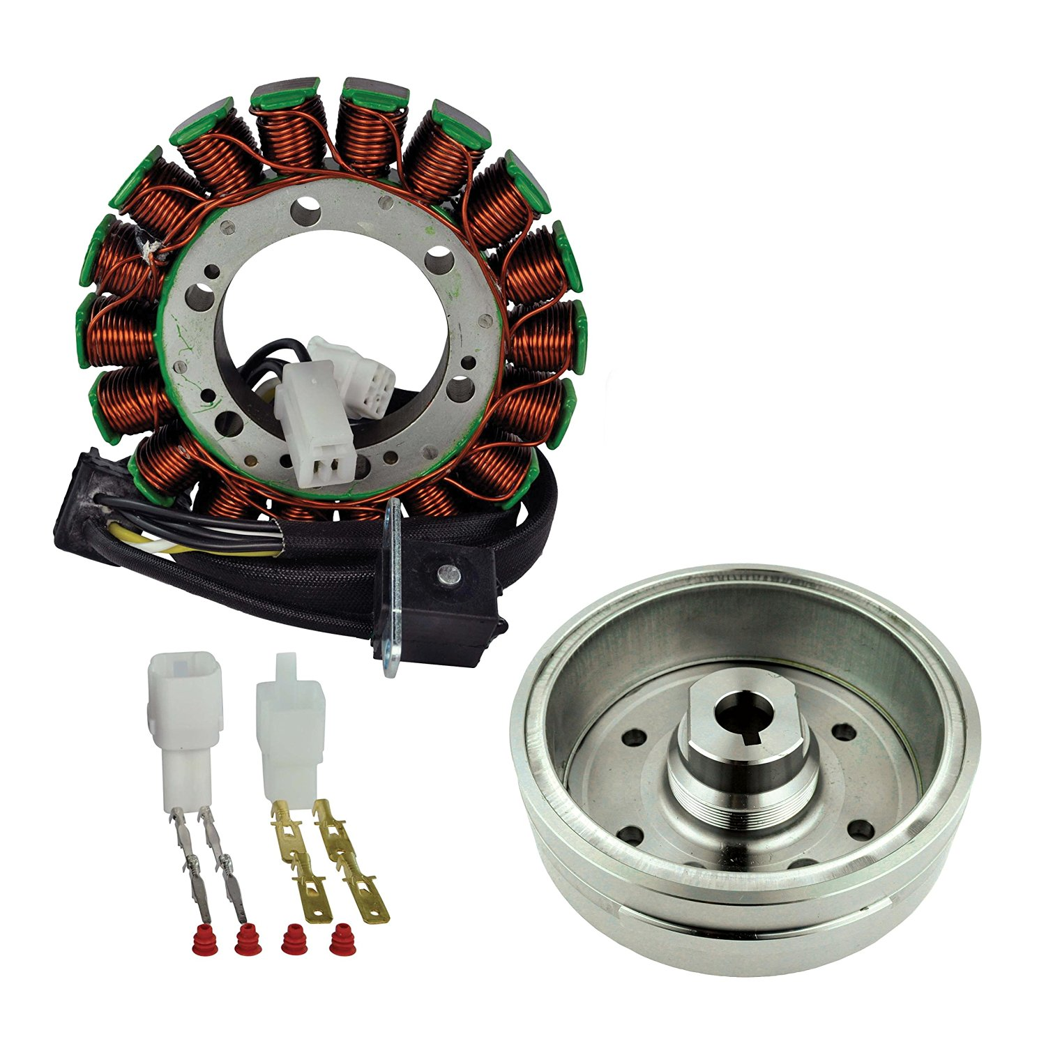 Kit Stator + Improved Magneto Flywheel For Suzuki LTA 400 Eiger / LTF 400 Eiger Arctic Cat 375 400 2002 2003 2004 2005 2006 2007 2008