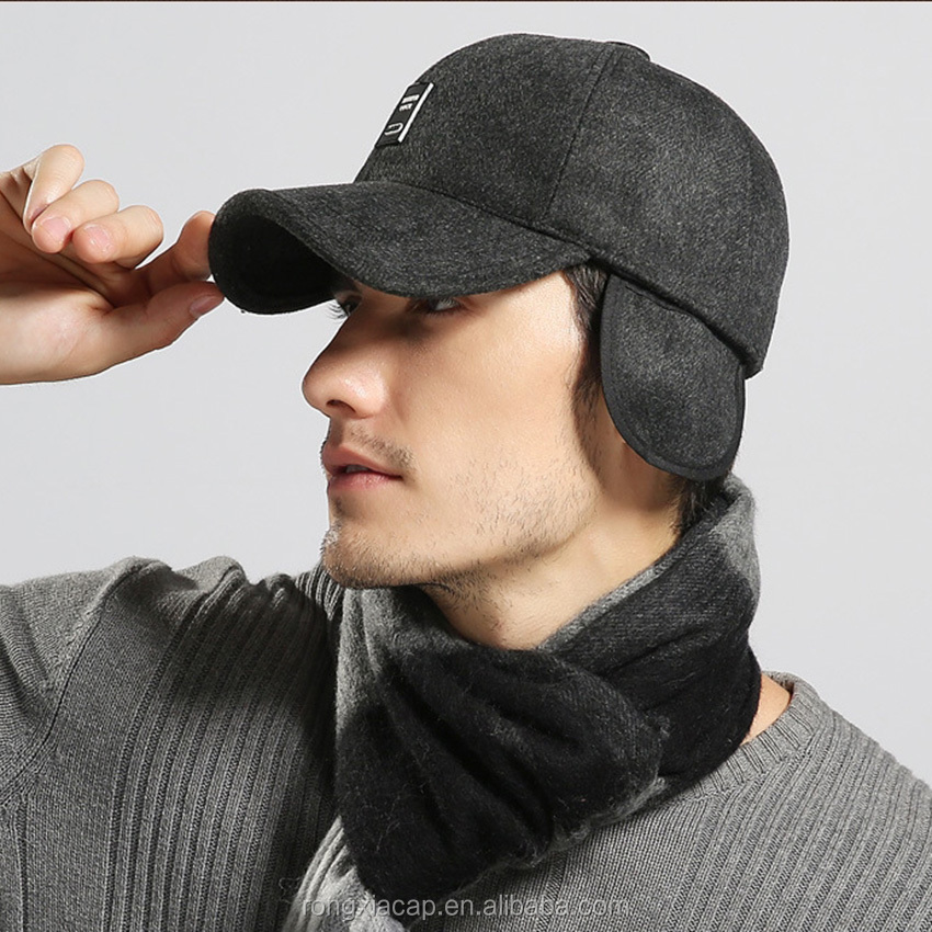 Wholesale Keep Warm Winter Ear Flat Baseball Cap