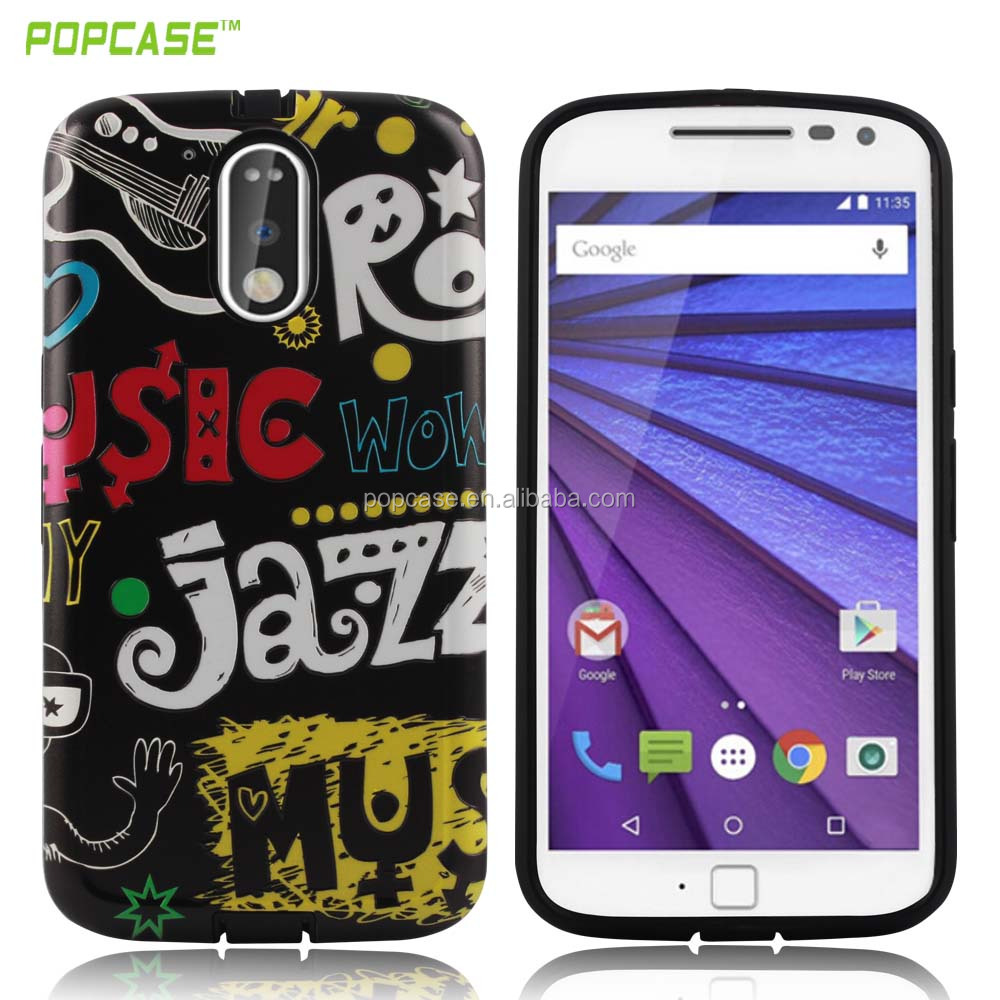 High quality Gummy combo high relief PC TPU Phone Case For Moto G4