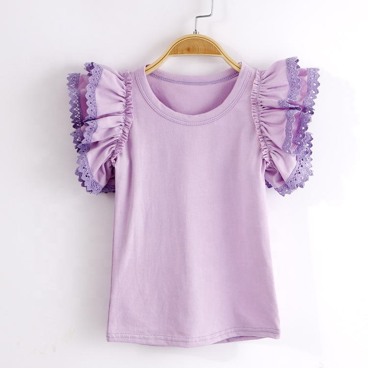 Kids custom t shirt Solid Organic Cotton Baby  girls t-shirt Nice Quality