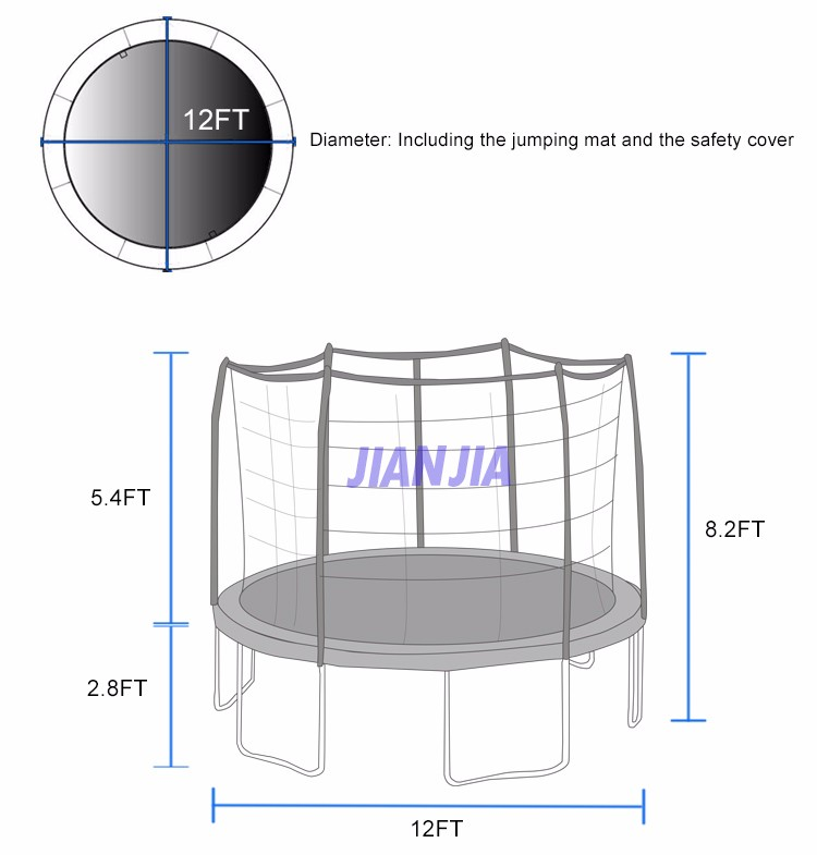 14 Ft Trampoline Mat And Springs 13 3 Waterproof