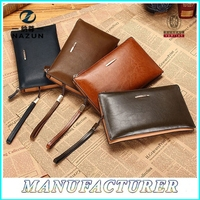 men cow leather wallet black or brown real leather wallet