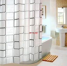 bathroom shower curtains water proof thickening bath curtain plaid pattern