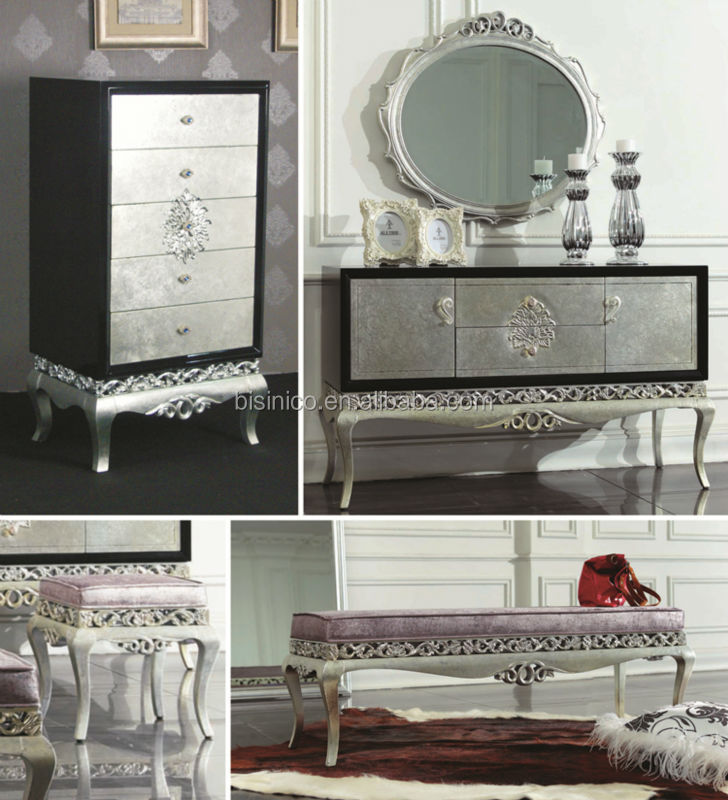 European Neoclassic Style Victoria Bedroom Furniture Luxury Dresser ...