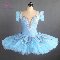 Light Blue Adult Girls Professional Classical Ballet Dance Basic Tutu for Performance or Competition B17063