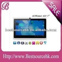 "HOT 7 "" Android 4.0 tablets with built in Allwinner A13 tablet 5 points"
