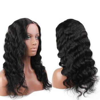 fcacede6f Brazilian Body Wave Left Side U Part Human Hair Wigs For Black Women ...