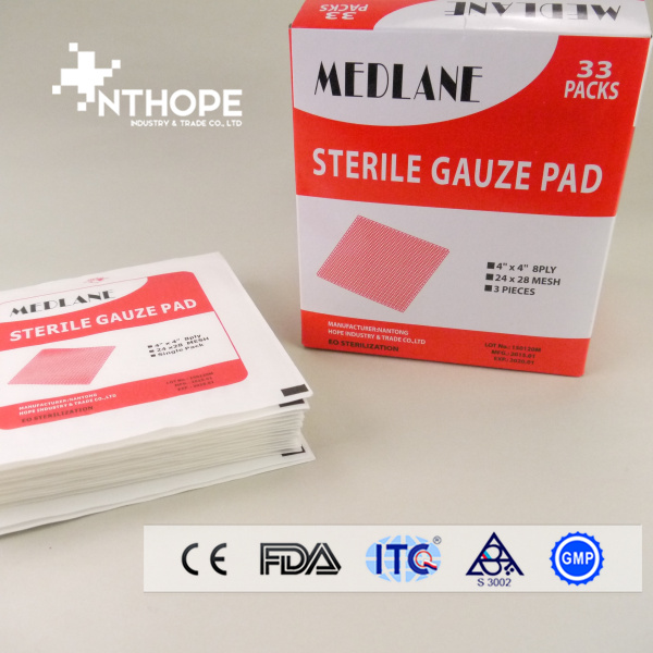 medical absorbent cutting gauze pad by machine