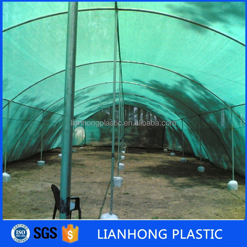 100% virgin HDPE shade garden green sun shade net / netting / cloth for Greenhouse / Vegetable Nursery / Carport