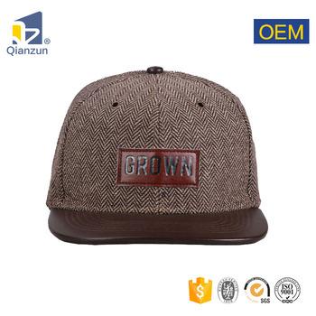 Blank Short Brim Plain Vintage Corduroy Snapback Hat Wholesale ... f16cb5a1938