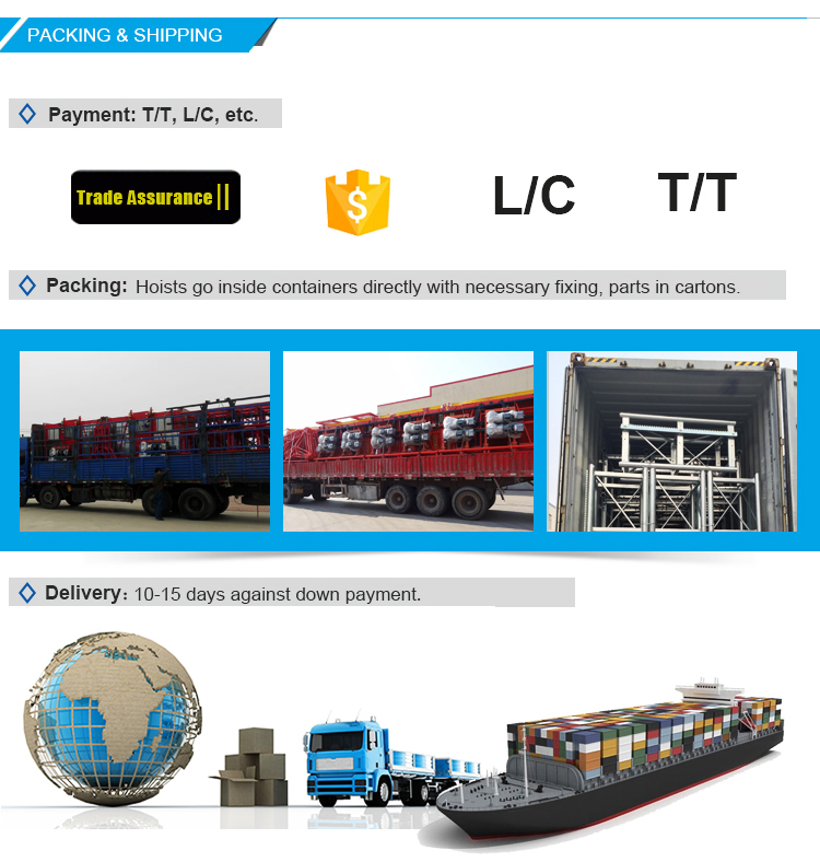SSH low cost SC100 construction hoist material hoist