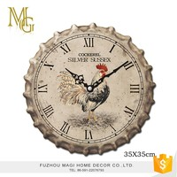 European style home decorative wooden antique reproduction wall clocks
