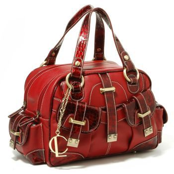 Charlie Lapson Deluxe Multi Pocket Satchel Handbag