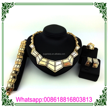 2017 Great Design Jewelry Sets 18k Gold Plated African Beads Jewelry Set