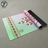 various style water-proof Foldable Machine Washable Absorbent earthing organic cotton yoga mat