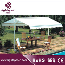 Large double side aluminum swing car parking awning