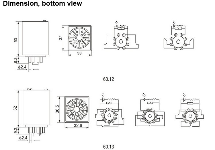 finder relay 8 pin diagram wiring diagram  60 12 finder relay,8pin dpdt 10a electric relay with button switch