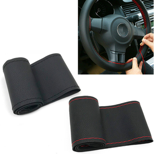 Factory DIY Cheap Leather Hand Sewing Steering Wheel Cover