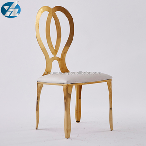 infinity roses gold stainless steel banquet chair