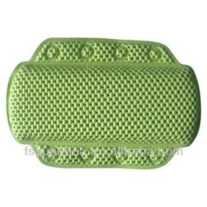 Eco-friendly PVC plastic Bath Pillow with suction cups