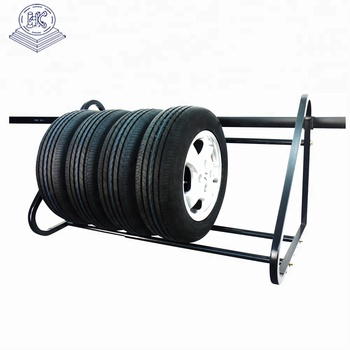 wall mounted heavy duty tire rack display