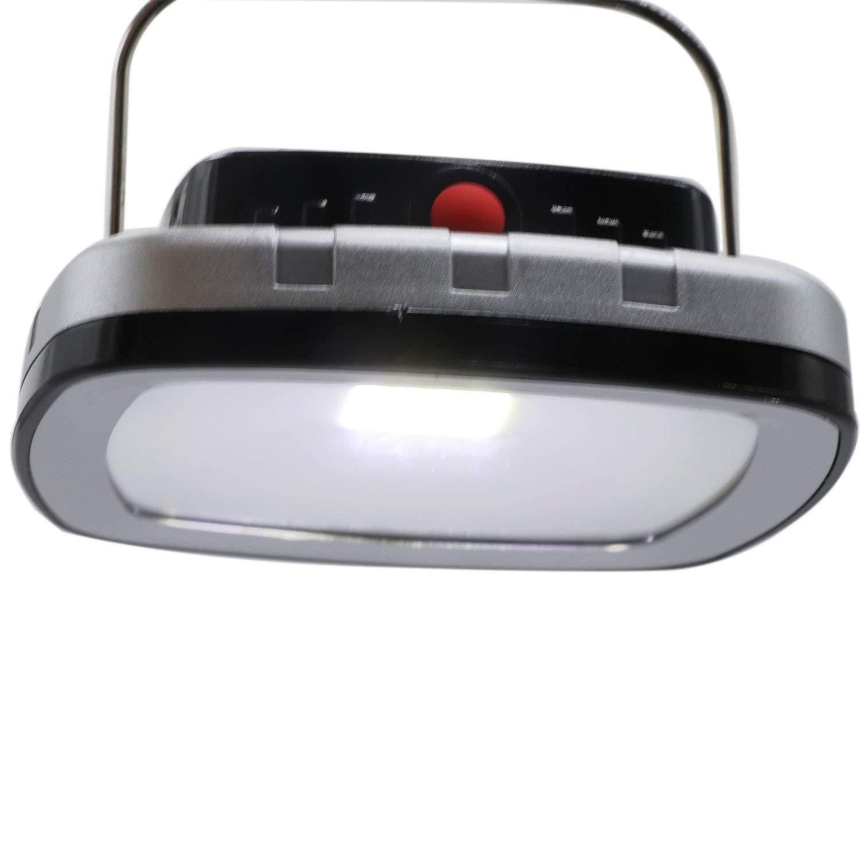 Yaojiaju AC 220V 6W USB Portable Solar Power LED Bulb Lamp, Solar Panel Applicable Outdoor Lighting,Camp Tent Fishing Lamp, Garden Light Outdoor Light (Color : Silver)