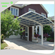 two car capacity outdoor aluminum folding car garage metal car canopy for sale