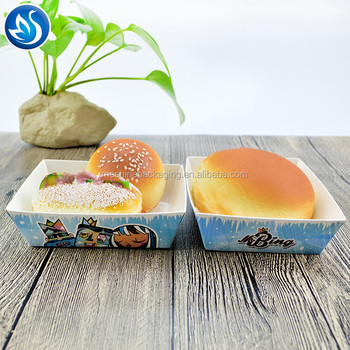 Hot selling disposable fast food serving custom printed hot dog tray box