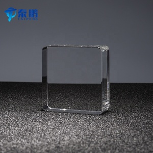 Factory customized all size transparent crystal blank cube paperweight for desk decoration