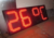 7 segment led digital display temperature sign 22 ich red color outdoor