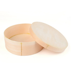 Whosale cheap wood round cake packaging box for cake