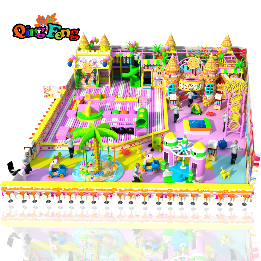Qingfeng 2017 big sale  Children commercial playground indoor playground equipme