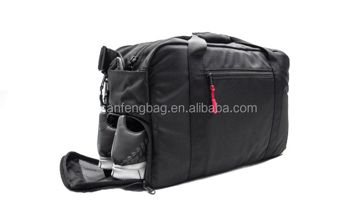 2015 BSCi Aduit High Quality Black Duffel With Laptop compartment and Shoe Storage
