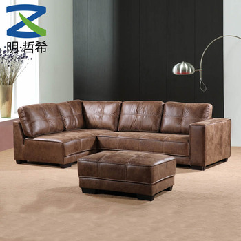 L Shape Living Room Leather Sofa Set For Guangdong Furniture House - Buy  Wooden L Shaped Sofa Sets,Living Room Sets For Sale,Drawing Room Sofa Set  ...
