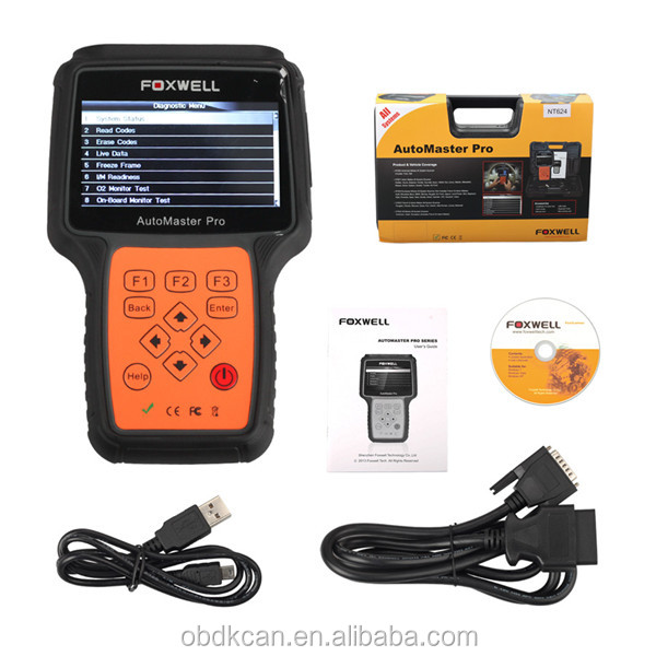Foxwell NT624 AutoMaster Pro All Makes All Systems Scanner for Mercedes Mitsubishi Suba ru Chery Proton OBD2 Diagnostic Tool