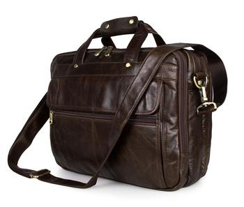 7146q Classic Vintage Leather Men S Brown Laptop Bags Briefcase Messenger Bag