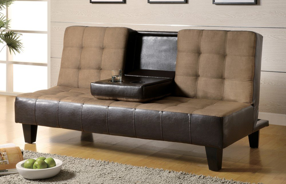 Get Quotations Sofa Beds And Futons 300237 69 25 Convertible With Drop Down Console Cup Holders