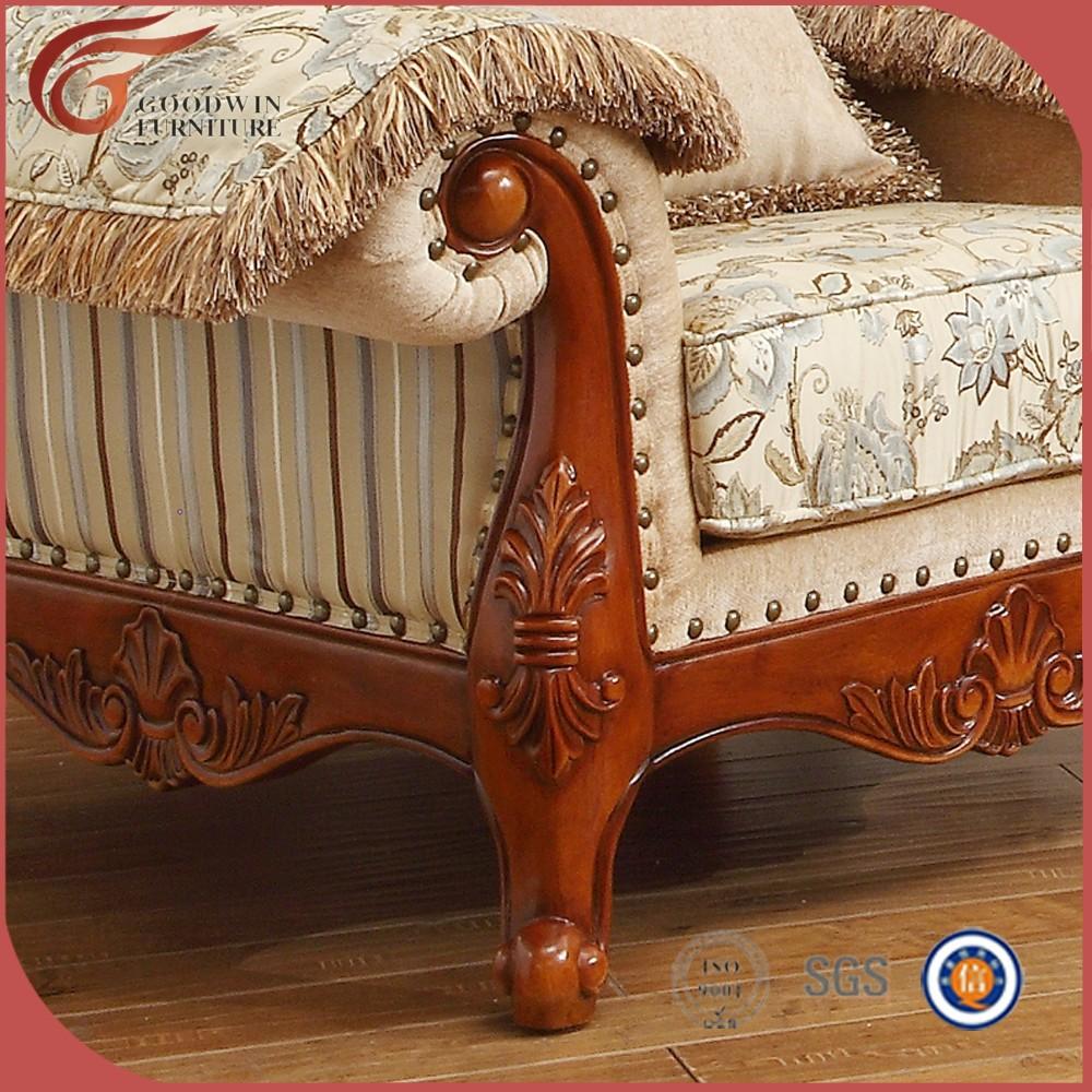 Venta Caliente Barato Tela Sof Muebles Talladas A Mano De Madera  # Muebles Tallados En Madera