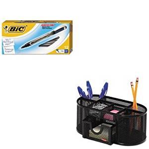 KITBICFPIN11BEROL1746466 - Value Kit - BIC Intensity Permanent Pen (BICFPIN11BE) and Rolodex Mesh Pencil Cup Organizer (ROL1746466)