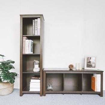 Modern Wooden Fancy Bookshelf Bookcase With 4 Open Shelves Buy