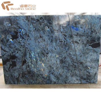 Lemurian Labradorite Blue Granite Slab For Countertops