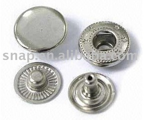 Boutons Brass Iron Metal Snap Buttons Ring Snaps