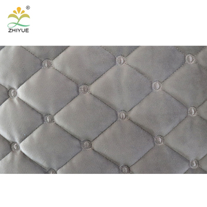Popular quilted Holland velvet fabric for mattress for sofa cover