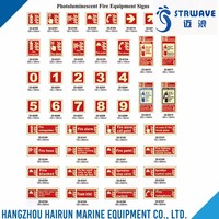 Security Protection Products Red Photoluminescent Fire Equipment Signs