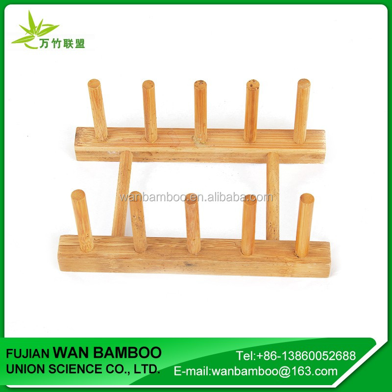 China Manufacture Vertical Bamboo Plate Rack