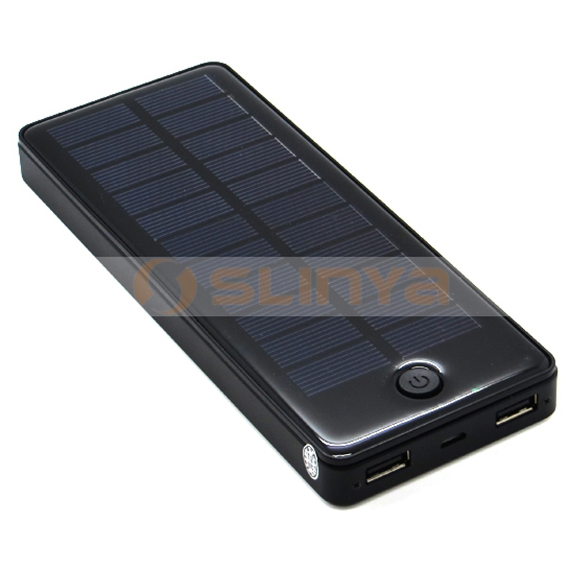 Dual USB 2A 1A 1.5W 3.7V Solar Charger Power Bank 15000mAh Portable Solar Charger for Mobile Phone