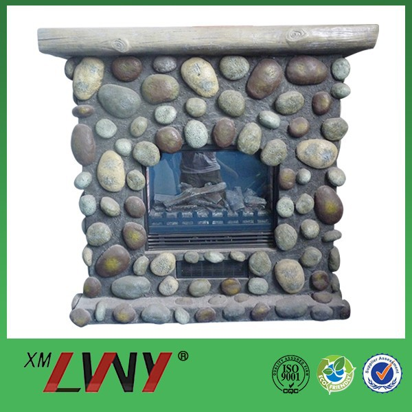 Unique style nature resin fiberglass ethanol fireplace china