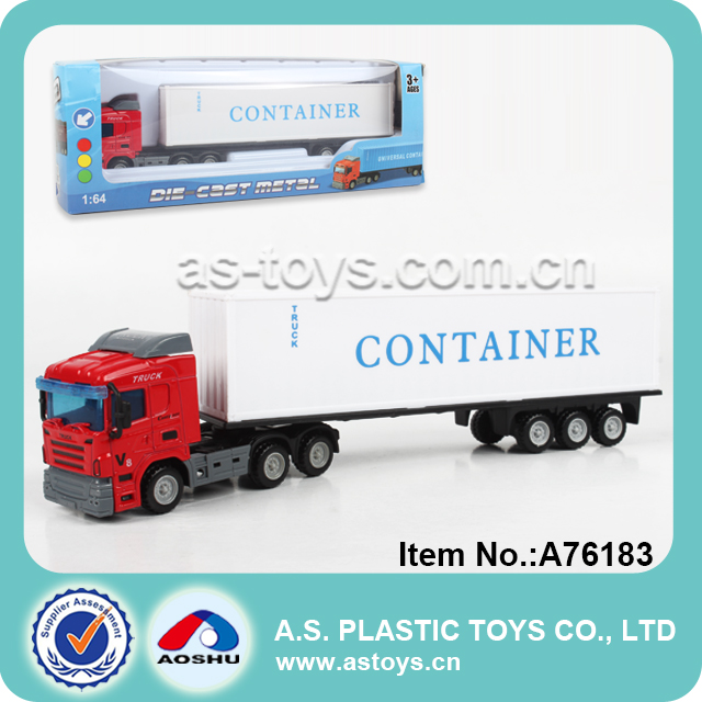 1:64 aluminum diecast carry transport container truck toy with high quality