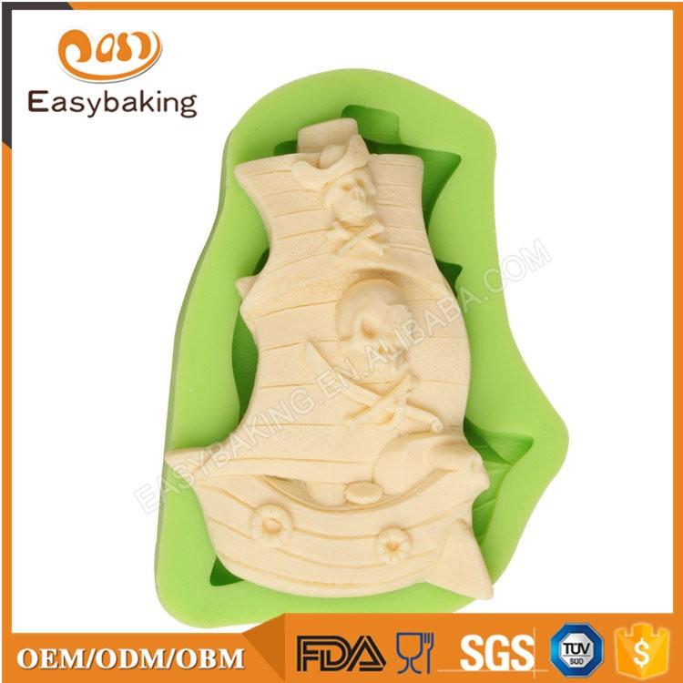 ES-6416 Boat Shape Fondant Mould Silicone Molds for Cake Decorating