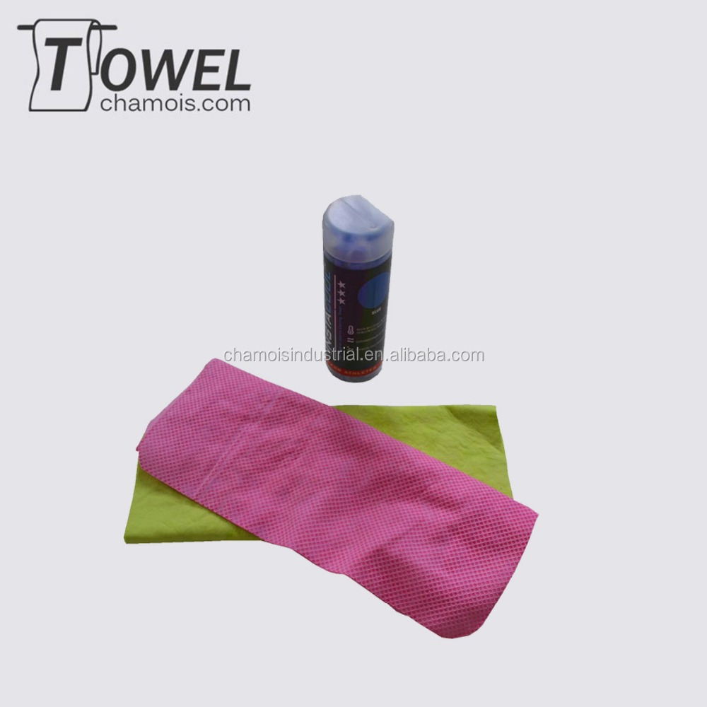Super water absorbent cooling chamois neck towels made in China